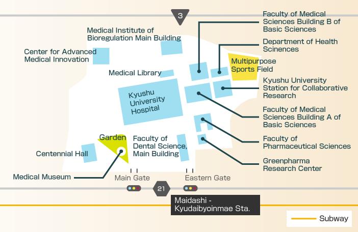 Ku Med Campus Map.Hospital Campus Visit Kyushu University