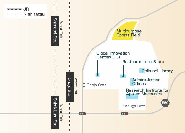 Access Map to Chikushi Campus